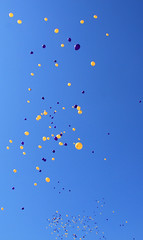 I can make it (Isle of wight Andy) Tags: blue sky yellow flying floating f yarmouth ballons iow floaty
