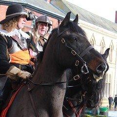 Cavalier at Nantwich (18mm & Other Stuff) Tags: england horses horse canon cheshire streetphotography civilwar cavalier digitalrebel reenactment cavalry roundhead nantwich thesealedknot hollyholy 2nantwichsaturday