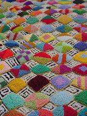 punchwork diamonds detail (Kathejo B) Tags: art design artwork needlework handmade sewing textiles diamondpattern punchwork kathejob multicoloredpattern