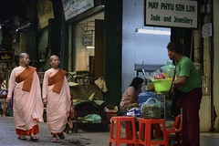 Monks in Bogyoke Market (cadams623) Tags: yangon burma monks myanmar bogyokemarket