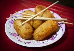 Vietnamese Croquettes & Chopsticks in the Bia Hoi District - Hanoi, Vietnam (ChrisGoldNY) Tags: travel food dinner poster asian yummy asia southeastasia vietnamese forsale meals restaurants vietnam viet viajes posters chopsticks albumcover plates lonelyplanet bookcover dishes hanoi appetizers fried bookcovers nam albumcovers eater consumerist indochina vn gridskipper croquettes biahoi northvietnam jaunted quanhoankiem chrisgoldny chrisgoldberg chrisgoldphoto chrisgoldphotos
