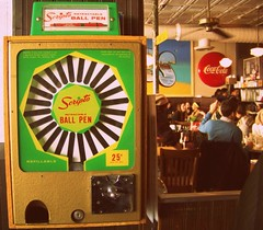 Scripto Retractable Ball Pen Machine 25 cents (Renee Rendler-Kaplan) Tags: winter people restaurant sitting gbrearview chairs kodak interior famous go beverage january machine saturday delicious drinks sit tables deli quarter inside kodakeasyshare eats lakeview seated loud peoplewatching gapersblock crowded wbez lively 25cents wewereyoungonce chicagoillinois ballpen chicagoist waitingarea clarkstreet cocacolasign peoplesitting scripto 2013 refillable withgoodreason thanksrobyn francesdeli coldoutsidewarminside thankssamantha reneerendlerkaplan retractrable alwaysterrific
