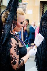 Woman in black (Gregoria McGregor) Tags: santa black spain andalucia holy andalusia malaga semana negra 2012 mantilla estampita