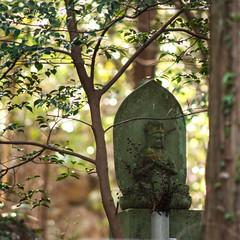 Long Meditations (Sam-in-Japan) Tags: mountain statue japan forest religious evening buddha buddhist stonework mystical hachiman nakatsu hachimanjo oitaprefecture nakatsushi