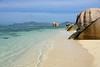 DSC_2357b La Digue, Seychelles: Anse Source d'Argent (wanderlust  traveler) Tags: ocean africa blue sea panorama nature landscape island rocks paradise palmtree tropical seychelles ladigue torquoise