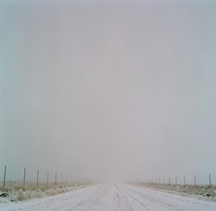 just like the sky the road never ends (Just-a-Song) Tags: road winter film fence freezingfog mediumformat montana hasselblad gravelroad alisonkrauss hasselblad500cm icyroad lyricaltitle gravelroadinwinter
