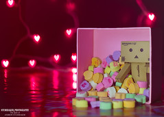 DANBO Wishes You A Happy Valentine's Day (Studebaker_Photography) Tags: light love canon cutout japanese rebel 50mm amazon day candy heart bokeh box character cartoon valentine jp valentines flashlight 18 shipping app lightroom iphone bemine danbo itouch 550d t2i