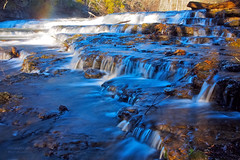 Cascades and Mistbows (RobertCross1 (off and on)) Tags: longexposure winter river waterfall tennessee cascades omd burgessfallsstatepark middletennessee fallingwaterriver highlandrim mistbow 1250mmf3563mzuiko