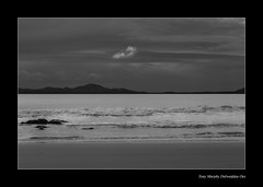 Shell Island view out to Sea (Delweddau Oes) Tags: sea sky blackandwhite white black beach nature canon landscape sand waves power north shell tony 5d snowdonia shellisland northwales whitehorses tonymurphy delweddauoes lifetimeimages