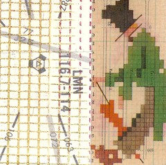 top hat guy (kurberry) Tags: collage crossstitch ephemera tissuepaper tracingpaper magazinepages bookpages vintageephemera bookbindingteam