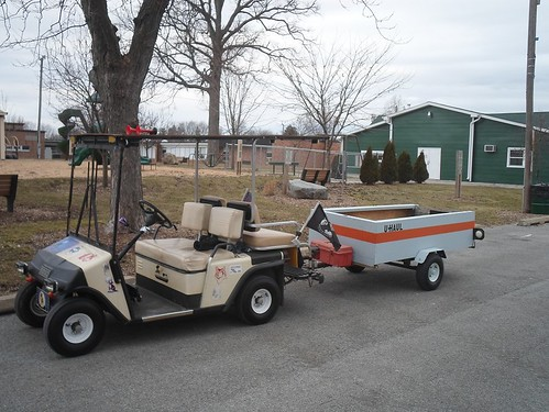 E-Z-GO Golf Cart And Trailer - a photo on Flickriver on homemade hot tub, troubleshooting club car electric cart, homemade tv, homemade atv,