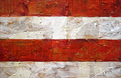 Jasper Johns, Flag, detail with stripes