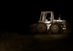 Spurn Tractor (Crash__Burn) Tags: old tractor weather night rust worn