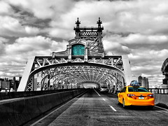 Cabbing It, Queensboro Bridge - New York City (JayCass84) Tags: street nyc newyorkcity bridge urban ny newyork beautiful cab awesome streetphotography queens queensborobridge streetview urbanstreetphotography urbanphotography instagram instagramapp