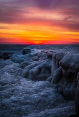 awakening (olsonj) Tags: ice water wisconsin dawn lakemichigan shore kenosha