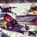 Jack enjoying a break from snowmobiling near Cranberry Lake. Photo:  Margeaux Davis, Fine, NY