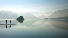 Derwent Haze (paulsflicker) Tags: uk lake landscape paul landscapes district lakes peaceful scene minimal cumbria simple plain minimalist clich bullen clichs serine