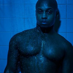 Model: Titus (TLPhotoWorks) Tags: blue male wet water square shower eyes bare chest squareformat normal iphoneography instagramapp uploaded:by=instagram
