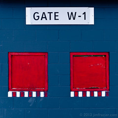 Gate W-1 (Jim Frazier) Tags: county blue red abstract window buildings tickets fairgrounds office illinois gate box pov entrance structures dupage fair symmetry il symmetrical february perpendicular centered entry q3 wheaton headon dupagecounty centralperspective 2013 dupagecountyfair dupagecountyfairgrounds ldfebruary jimfraziercom wmembed ld2013 20130223dupage
