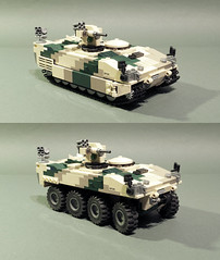 Spadroon chassis modularity (Aleksander Stein) Tags: lego military cv100 spadroon medium modular fighting vehicle apc tracked wheels 8x8 hagglunds nordic ndc