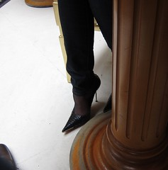 Breakfast (Rosina's Heels) Tags: leather high pumps boots thigh heel stiletto overknee boos