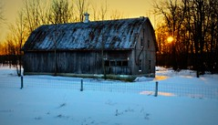 Evening Glow          .........................hit L for best view... (imageClear) Tags: trees winter sunset sun snow cold nature beauty wisconsin barn rural fence photography evening photo twilight nikon flickr glow image country scenic picture peaceful scene lovely setting picturesque tranquil naturephotography eveningglow 18200mm nikon18200mm outdoorphotography ruralphotography ruralsetting d7000 imageclear