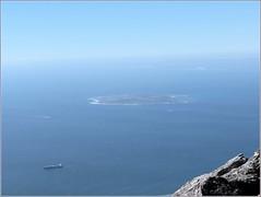 Robben Island from Table Mountain, Cape Town, South Africa (robin denton) Tags: ocean sea seascape history southafrica island view capetown historic atlantic prison hdr tablemountain apartheid nelsonmandela robbenisland