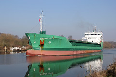 'Arklow Field' Thelwall ferry 5th March 2013 (John Eyres) Tags: manchester canal ship thelwall arklowfield