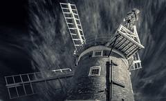 Cley Windmill B&W (grbush) Tags: bw windmill monochrome lumix blackwhite norfolk g3 cley cleynextthesea cleynexttheseawindmill