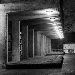 Night on Campus (Michael Berg Photo) Tags: architecture night canon square 50mm squareformat 5d 50l michaelberg archshot 50mmf12l 50f12 5dmarkii michaelbergphoto