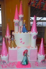 "Princess castle cake • <a style=""font-size:0.8em;"" href=""http://www.flickr.com/photos/60584691@N02/8547861508/"" target=""_blank"">View on Flickr</a>"
