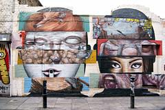 Liliwenn & Bom.K (dprezat) Tags: street uk urban london art stencil tag graf peinture londres bricklane bombe pochoir aérosol bomk sonyalpha700 liliwenn