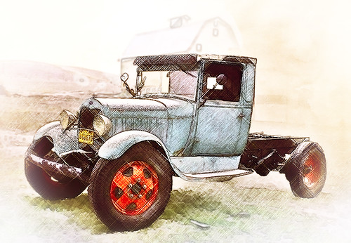 Sweet Model A Truck - Original by Gary Swainboat