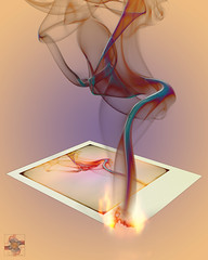 Out of the Frying Pan.... Let the Flames Begin 4 (Smoke Art #672) (Psycho_Babble) Tags: abstract polaroid smoke incense smokeart smokephotography smokephoto smokemanipulation creativesmoke