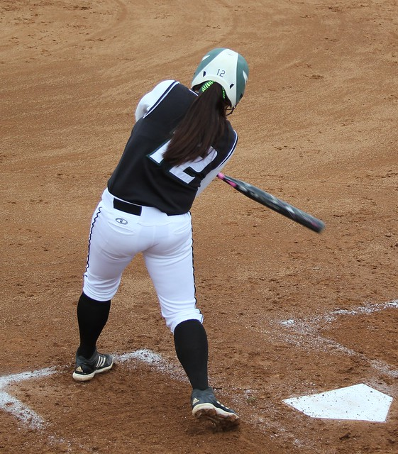 Senior Jillian Stafford went 2-for-4 with a double and two RBI's in the first game against Dominican on Friday. Copyright 2013; Wilmington University. Photo credit: Nicole Wiechecki. All rights reserved.