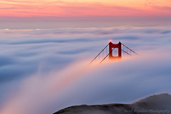 Peekaboo (Jared Ropelato) Tags: sanfrancisco park bridge jared nature fog sunrise landscape photography bay outdoor environmental photograph goldengate sanfran enviro 2013 ropelato ropelatophotography