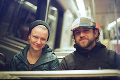 commuters (BryanBowman) Tags: friends portrait film 35mm photography