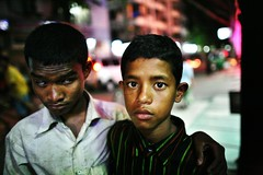 Suman & Haris (N A Y E E M) Tags: street boys night blind brothers young bangladesh suman gec beggars chittagong haris