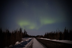 Northern Lights over the North Klondike Highway (Krista Funk's Photos) Tags: sky night stars northernlights auroraborealis northklondikehighway