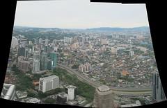 KL city view (JohnSeb) Tags: johnseb asia2013 malaysia kualalumpur petronastowers autostitch composite panorama city metropolis