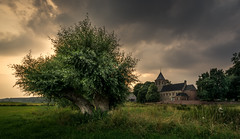 Old church Oosterbeek (Mario Visser) Tags: rood oosterbeek church netherlands tree old gelderland green sky clouds history