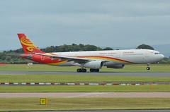 B-8016 Hainan Airlines Airbus A330 EGCC 8/7/16 (David K- IOM Pics) Tags: b b8016 airbus a330 hainan airlines egcc man manchester ringway airport