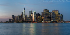 Lower Manhattan Twilight (DSC04415) (Michael.Lee.Pics.NYC) Tags: longexposure newyork skyline night cityscape sony eastriver bluehour governorsisland lowermanhattan twlight newyorkharbor a7rm2 voigtlandernoktonclassic35mmscf14