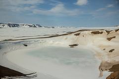 Krafla Viti Crater 21 (sarahmonious) Tags: kraflaviticrater kraftla viti myvatn kraftlavolcano volcanocrater crater hverir snow route1iceland route1 ringroad iceland iceland2016 icelanding2016 traveling