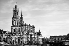 Katholische Hofkirche, Dresden (spcoonley) Tags: fujifilm fuji xe2 xf35mmf14 katholische hofkirche catholic church dresden cathedral holy trinity germany deutschland black white monochrome