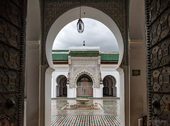 Karaouine Mosque, Medina, Fes, Morocco (Abhi_arch2001) Tags: karaouine mosque masjid fes fez medina morocco moroccan architecture islamic pattern mosaic door gate portal holy prayer arch rain cloud cloudy