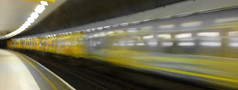 Down the tube (Thrift) Tags: merseyrail yellow underground overground metro liverpool wirral merseyside train