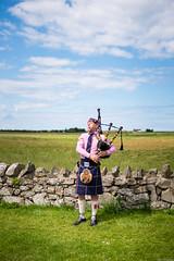 Piper (aljones27) Tags: lindisfarne northumbria piper bagpipes bagpiper scottish scots