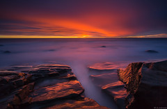 Red_night (JLindroos) Tags: long exposure lee big stopper filters 10stop clouds red colorful horizon rocks rock canon zeiss pori finland reposaari jlindroos