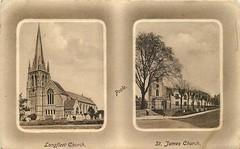 The churches of Poole (mgjefferies) Tags: england dorset poole church 1912 postcard longfleet anglican stmarys stjames